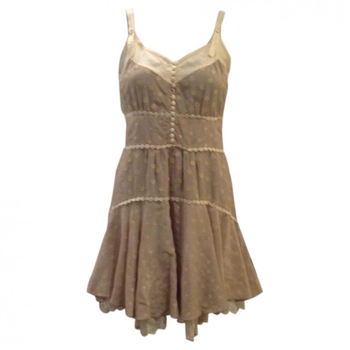 Blumarine - Robe   pour femme en soie - beige