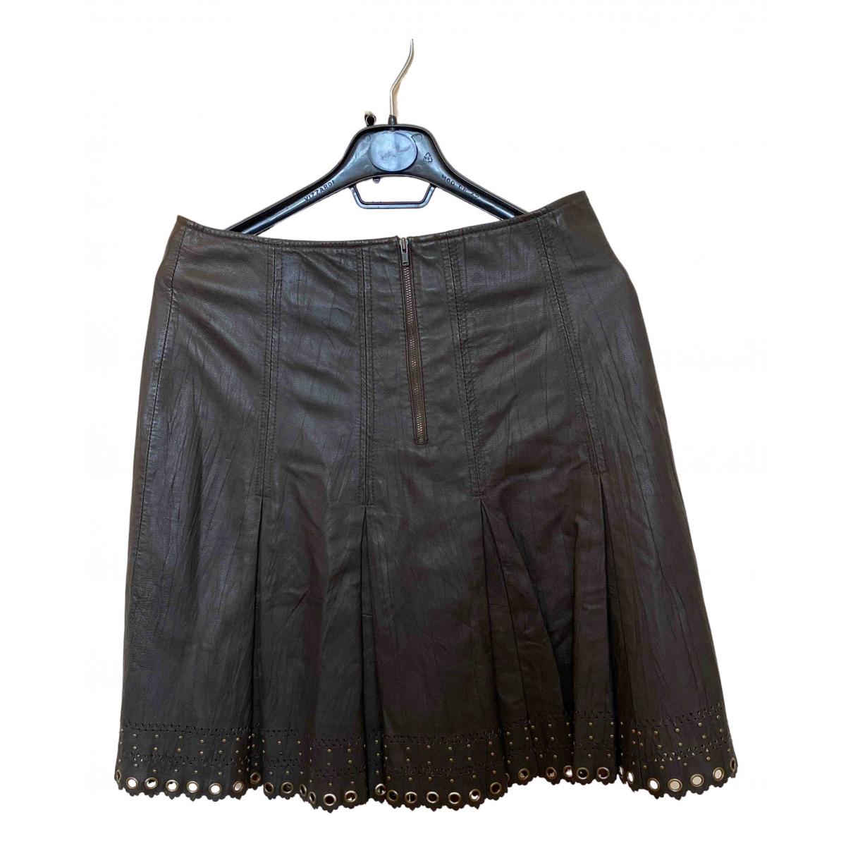Falda midi de Cuero Ventcouvert