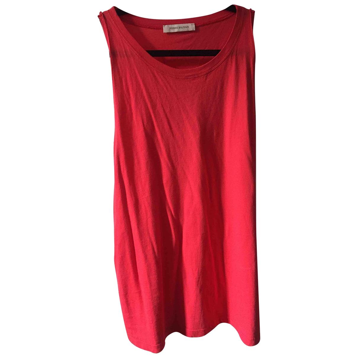 Pierre Balmain - Top   pour femme en coton - rouge