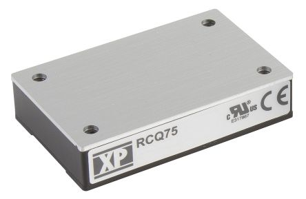 XP Power RCQ75 75W Isolated DC-DC Converter Through Hole, Voltage in 43 → 101 V dc, Voltage out 12V dc Railway