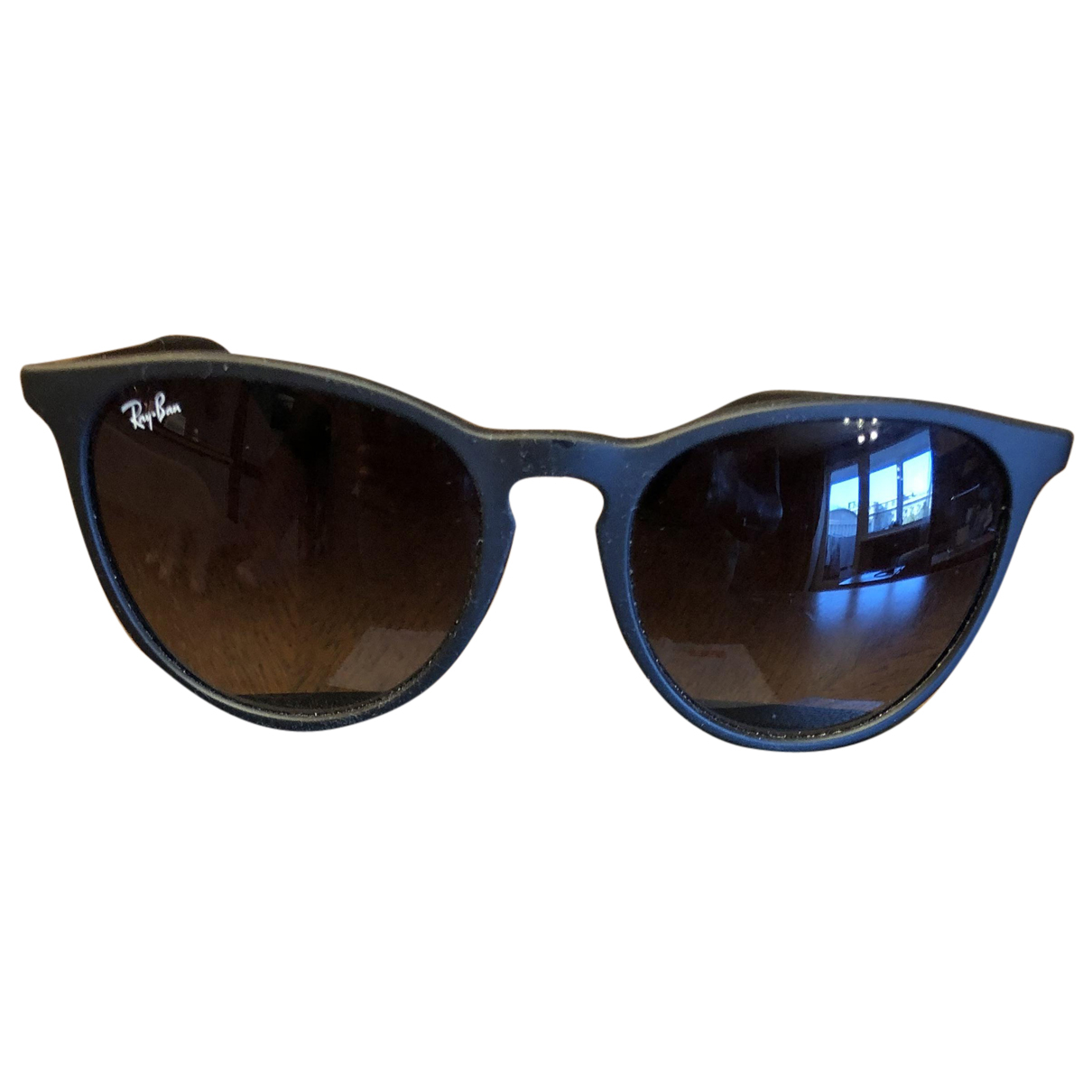 Ray-ban Round Black Sunglasses for Men N