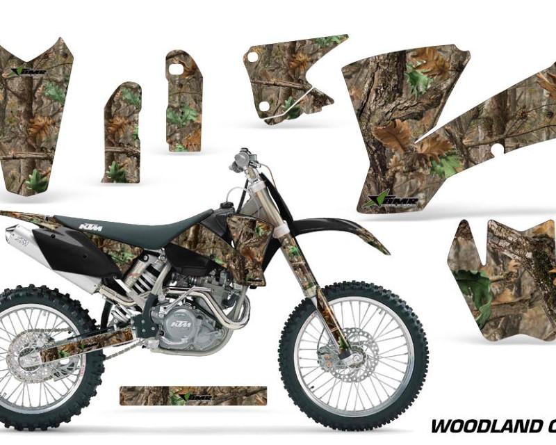 AMR Racing Dirt Bike Graphics Kit Decal Wrap For KTM  SX SXS EXC MXC 2001-2004áWOODLAND CAMO