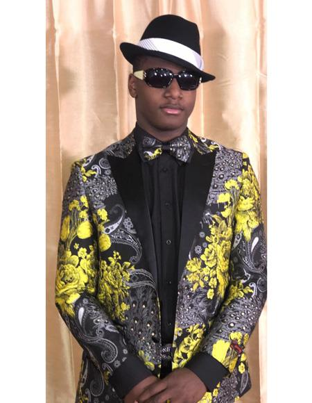 Coming 2019 Pre Order Floral Satin Sport Coat Flashy Stage Fancy Party