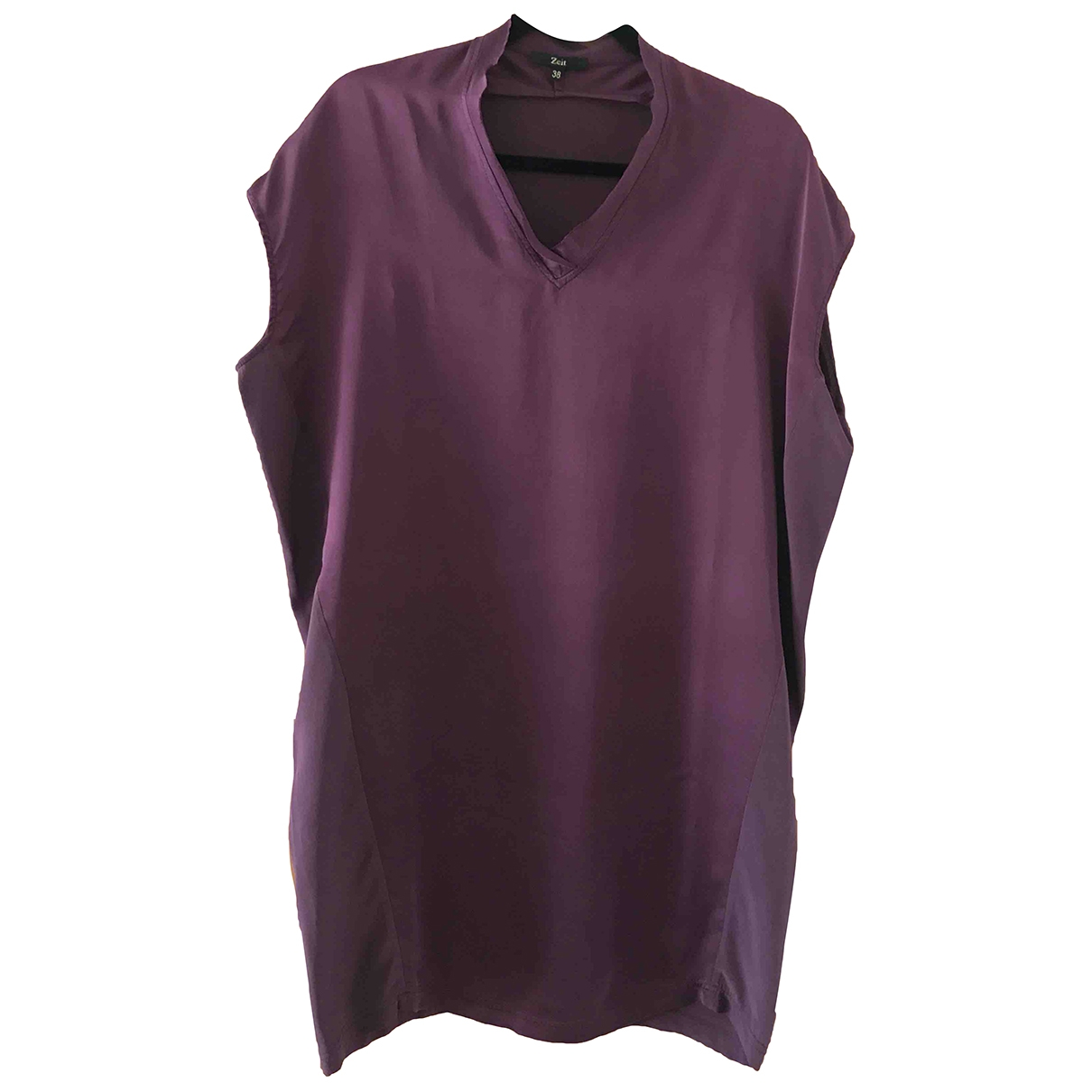 Non Signé / Unsigned \N Purple Silk dress for Women 38 FR