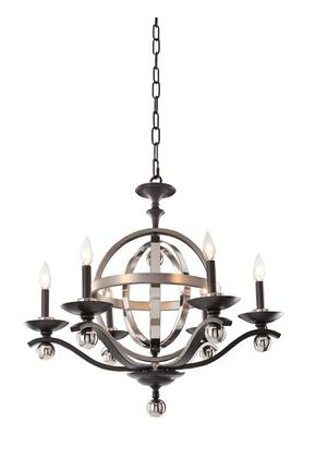 Rothwell 6597PSN (6+1)-Light 2 Tier Chandelier in Polished Satin