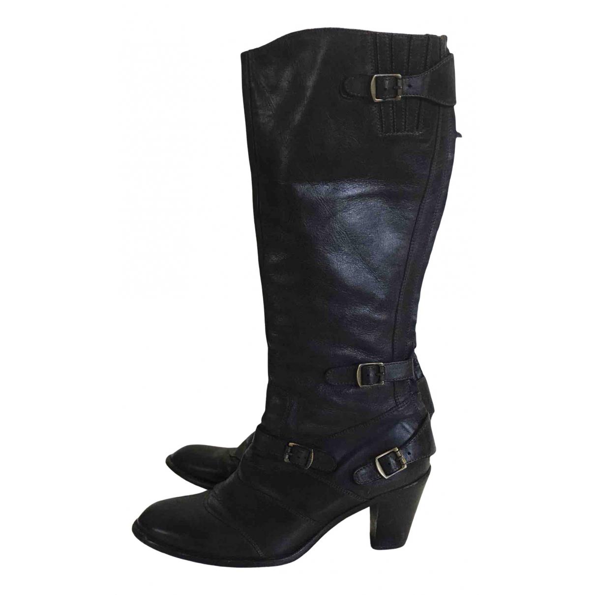 Belstaff - Boots   pour femme en cuir - noir
