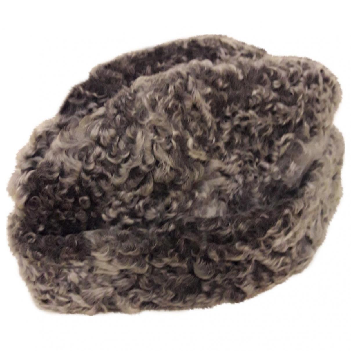 - Chapeau & Bonnets   pour homme en astrakan - gris