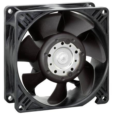 ebm-papst , 24 V dc, DC Axial Fan, 92 x 92 x 38mm, 140m³/h, 7W, IP68