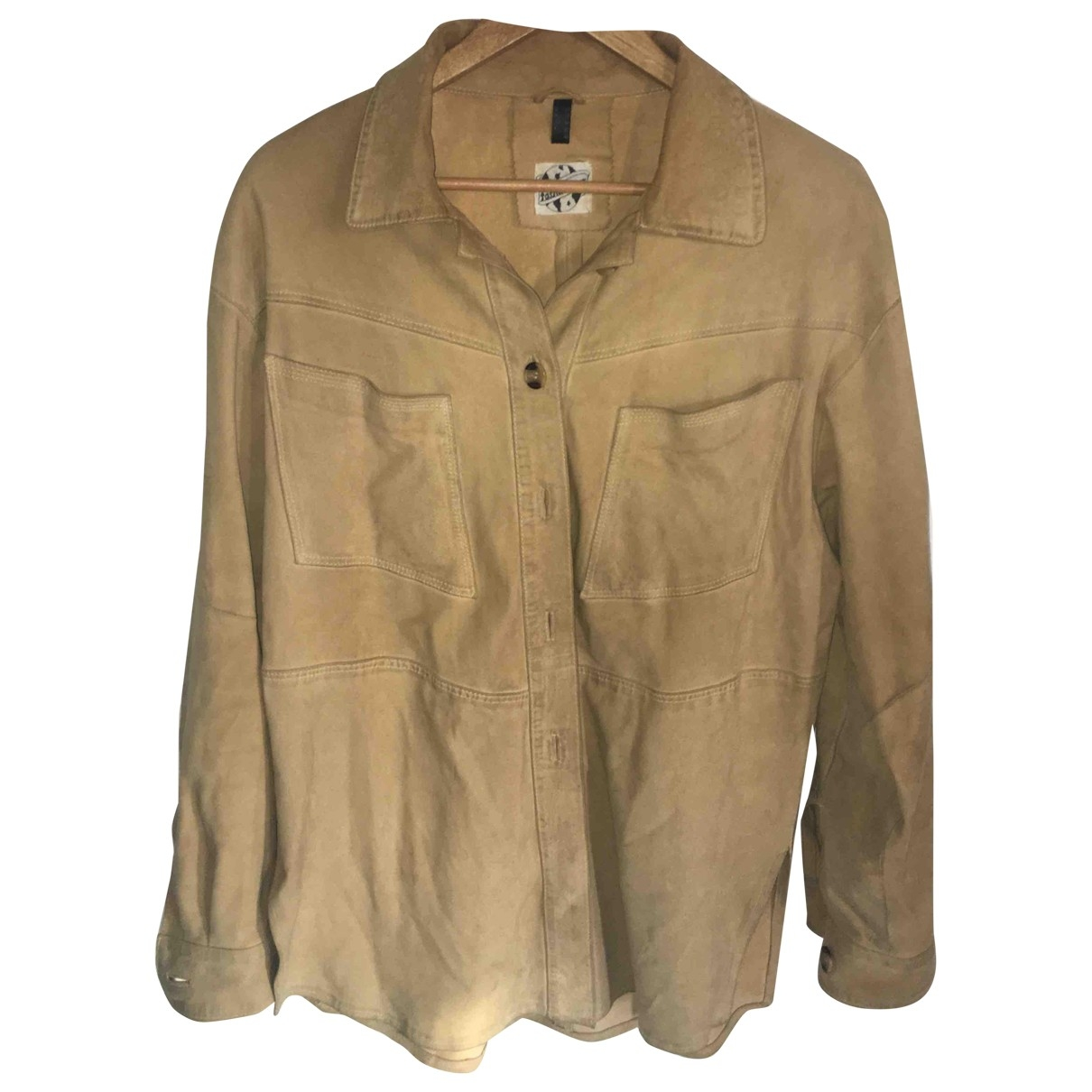 Non Signé / Unsigned \N Camel Suede jacket for Women 42 FR