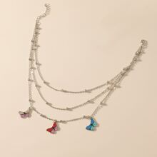 Butterfly Layered Chain Necklace