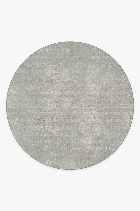 Washable Rug Cover | Gabbeh Grey Rug | Stain-Resistant | Ruggable | 8' Round