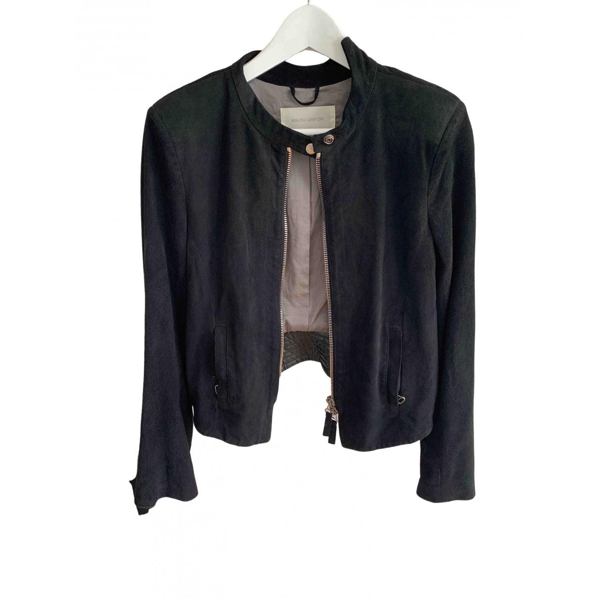 Mauro Grifoni - Veste   pour femme en cuir - noir
