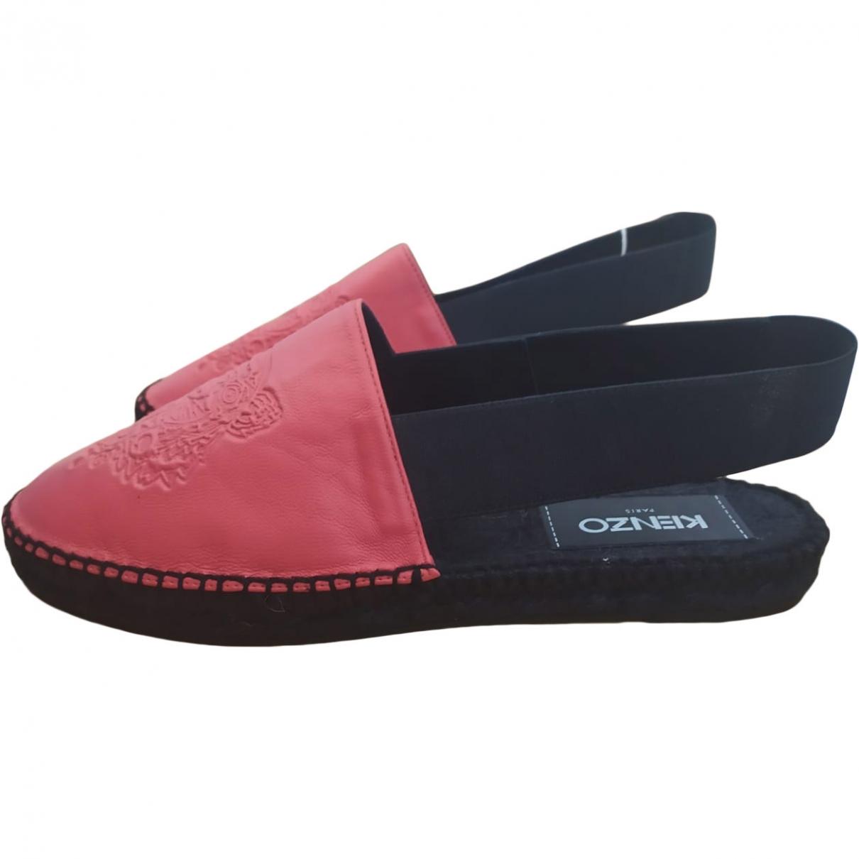 Kenzo \N Orange Leather Espadrilles for Women 37 EU