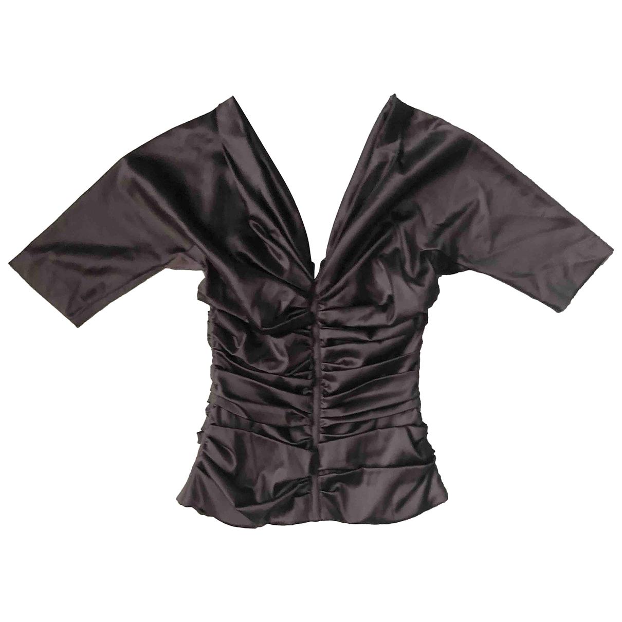 Dolce & Gabbana - Top   pour femme en soie - anthracite