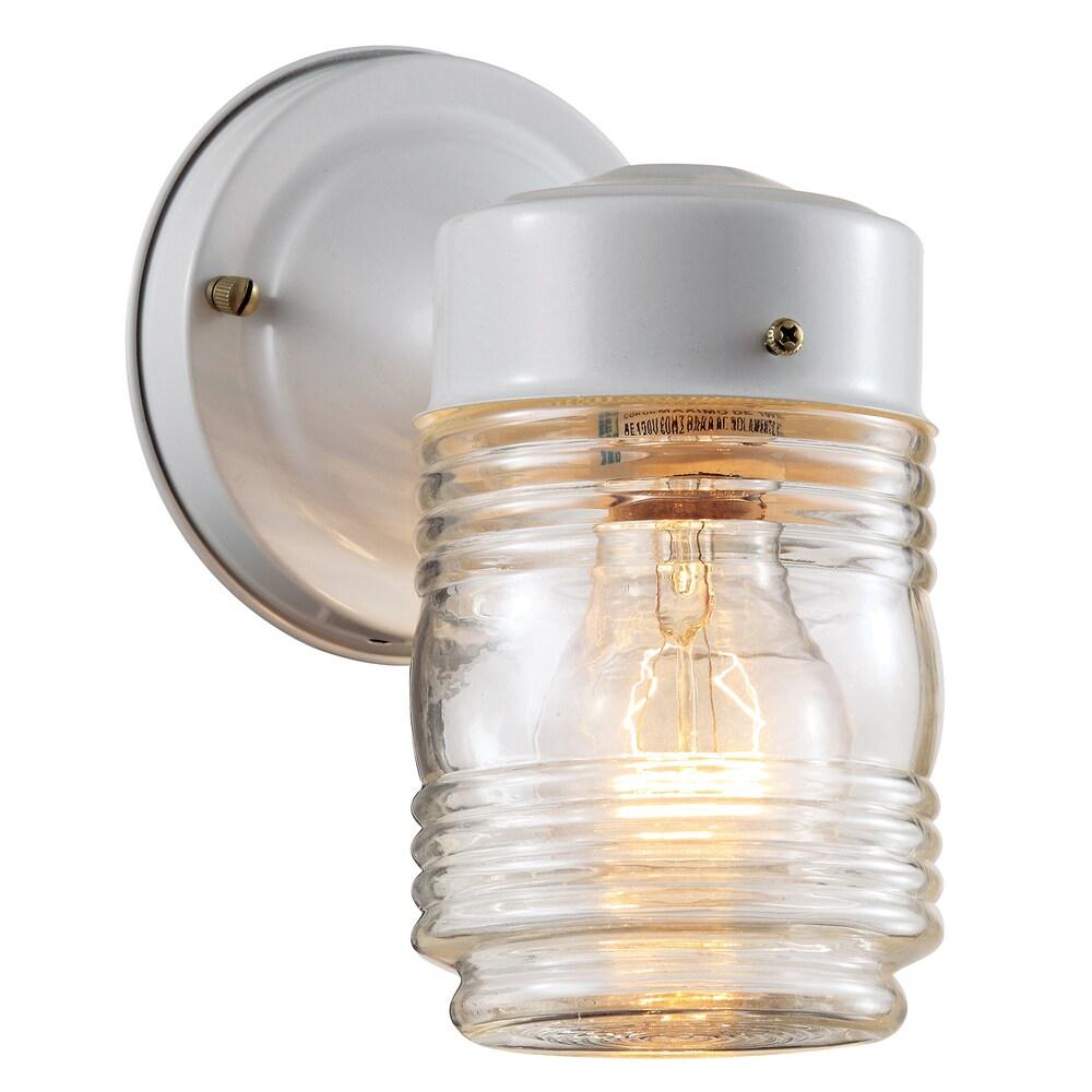 Bel Air Lighting CB-4900-WH 4-inch White Jelly Jar Outdoor Light Fixture (Outdoor lighting)
