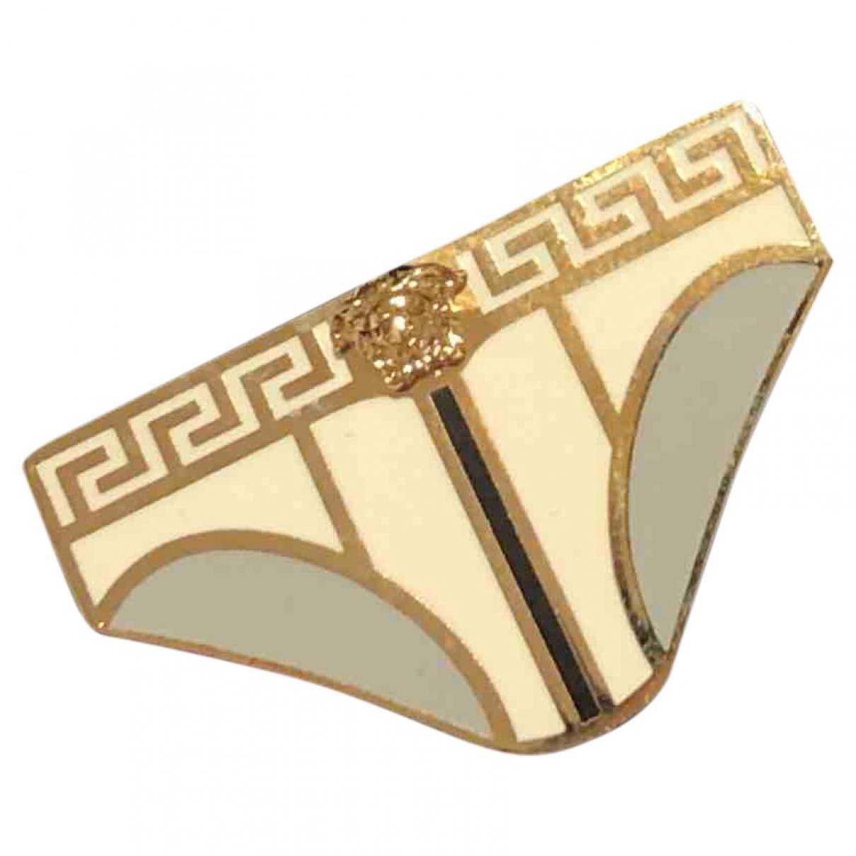 Versace - Broche   pour femme en metal - dore