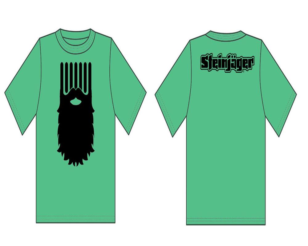 Steinjager J0048181 Antique Irish Green Shirts The Beard Size XL