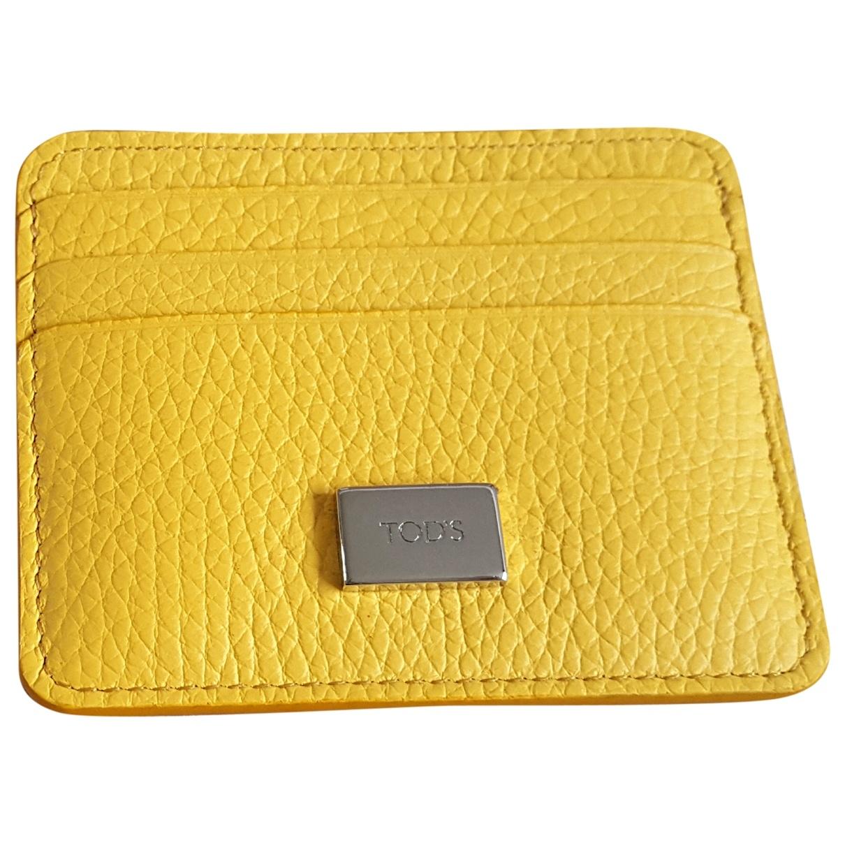 Tods - Petite maroquinerie   pour femme en cuir - jaune
