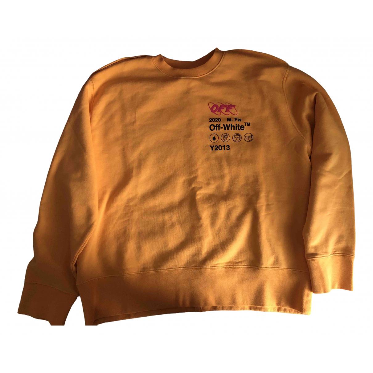 Off-white \N Pullover.Westen.Sweatshirts  in  Gelb Wolle