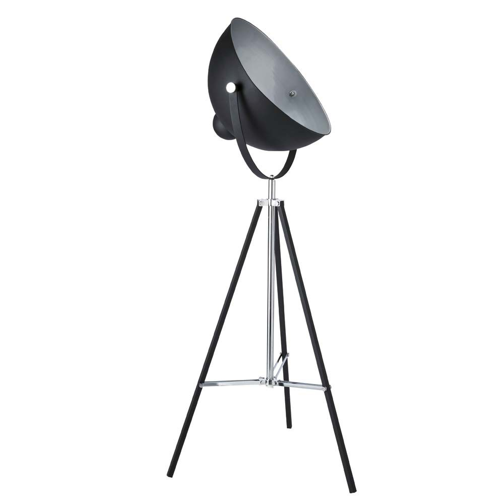 Dreibeinige Stehleuchte PHOTOGRAPHE aus Metall, H 145cm, schwarz
