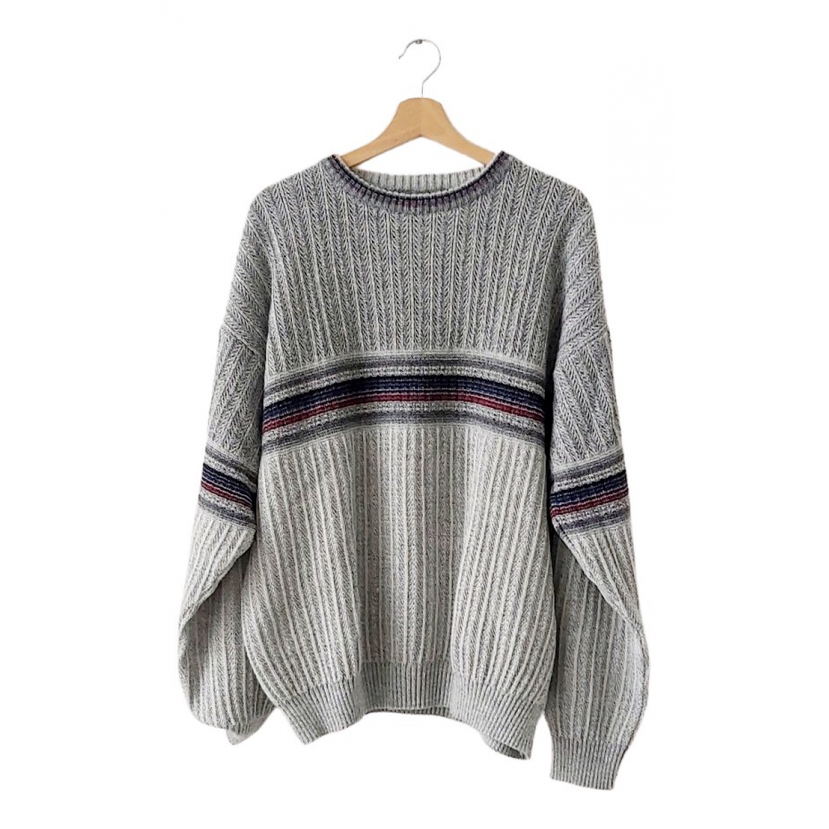 Non Signe / Unsigned Oversize Pullover.Westen.Sweatshirts  in  Grau Wolle