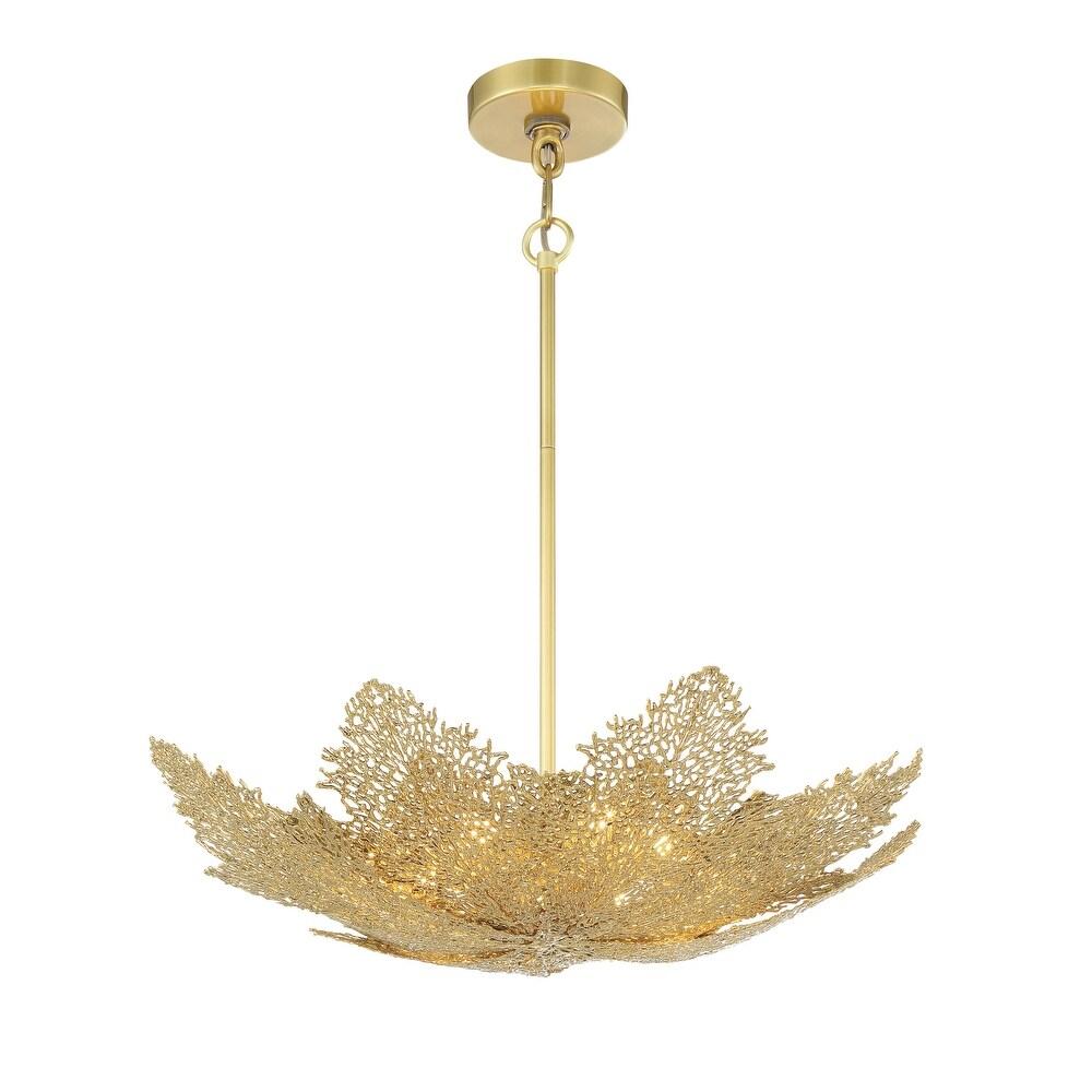 Evergold - 8 Light Pendant by Metropolitan (India Gold W/ Vintage Brass)