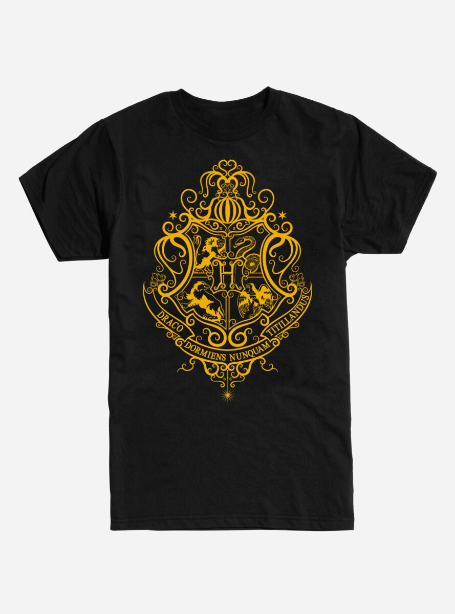 Harry Potter Hogwarts Yellow Logo T-Shirt