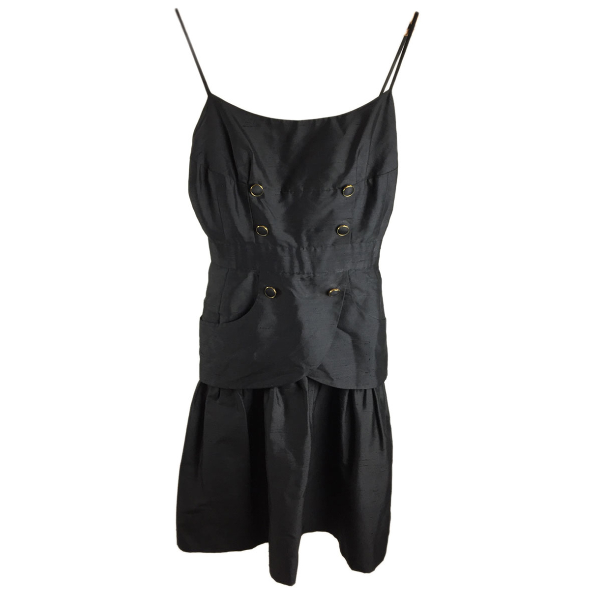 Chanel N Black Silk dress for Women 38 FR