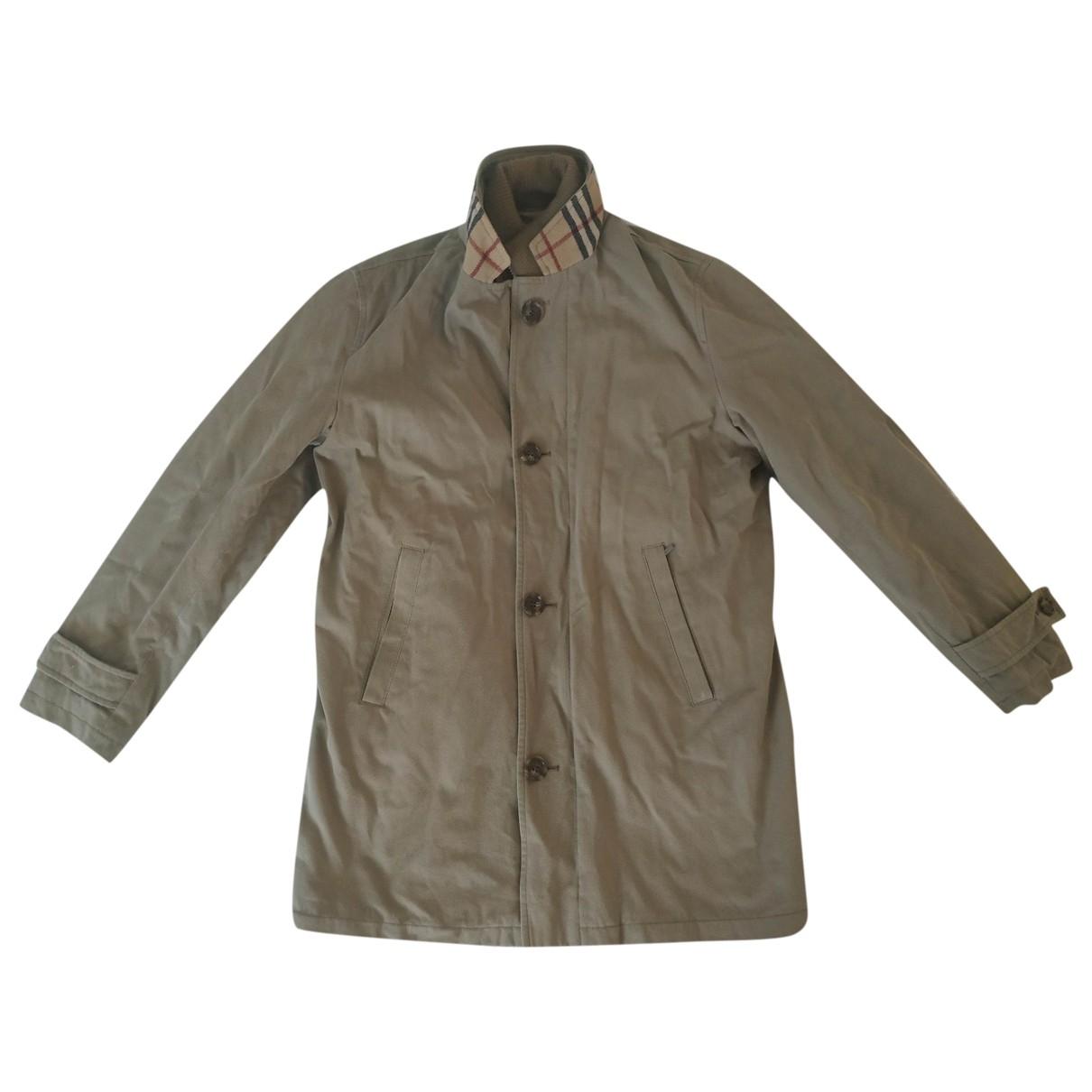 Burberry - Manteau   pour homme en coton - camel