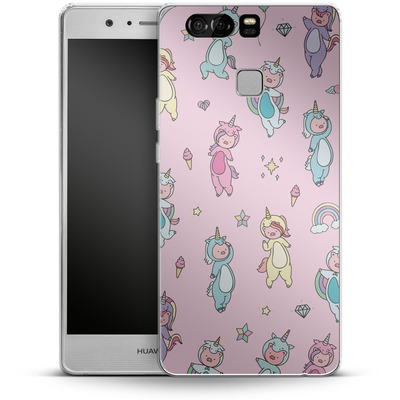 Huawei P9 Silikon Handyhuelle - Piggy Unicorns von Chan-chan