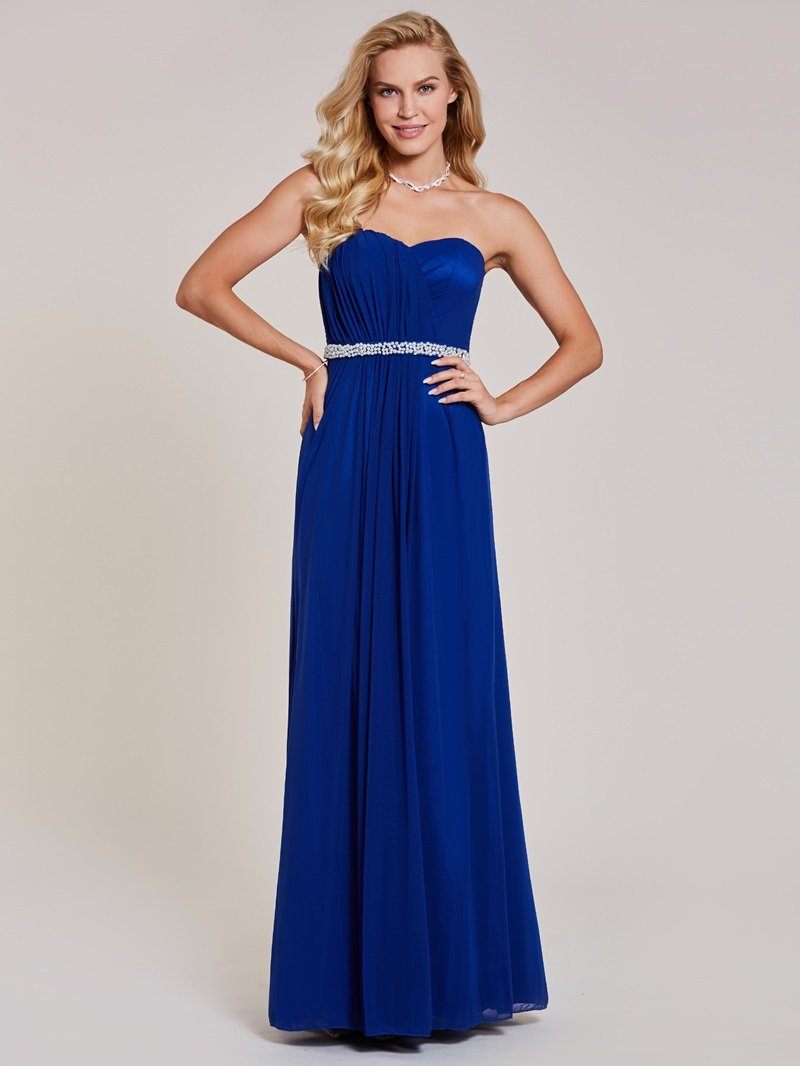 Ericdress Sweetheart Beaded Pleats A Line Evening Dress