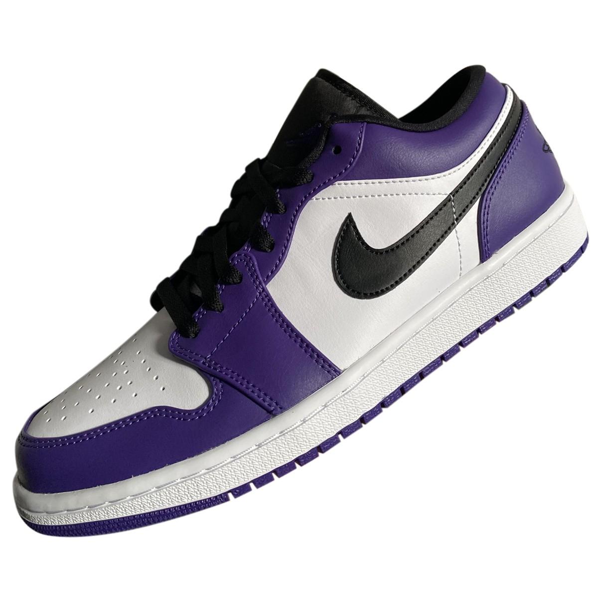 Jordan - Baskets Air Jordan 1  pour homme en cuir - violet