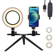 Ring Fill Light & Tripod Stand & Phone Holder
