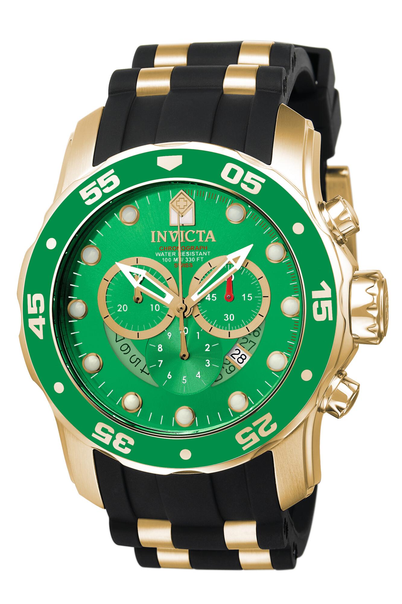 Invicta Men's Pro Diver 6984 Black Rubber Swiss Parts Quartz Dress Watch
