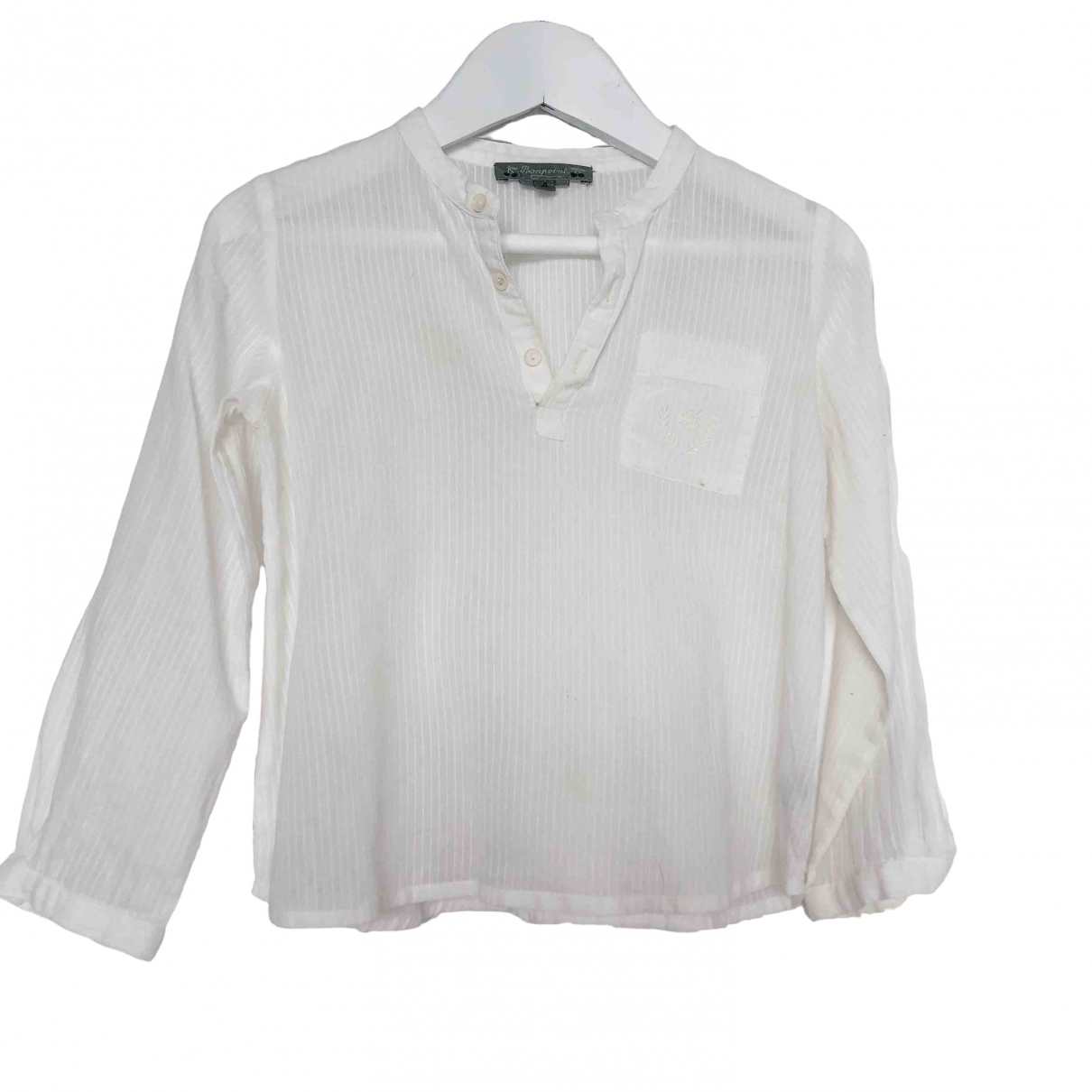 Bonpoint \N White Cotton  top for Kids 4 years - up to 102cm FR