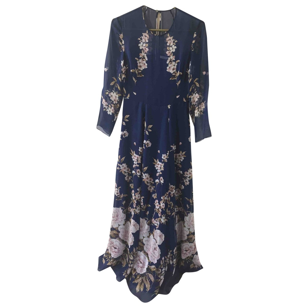 The Fold \N Kleid in  Blau Seide
