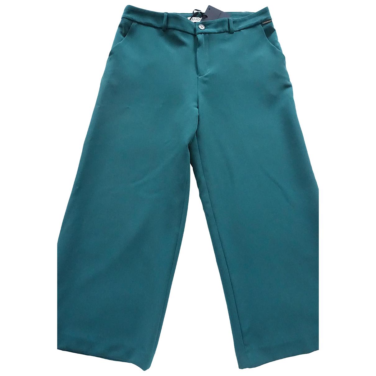 Liu.jo \N Turquoise Trousers for Women 42 IT