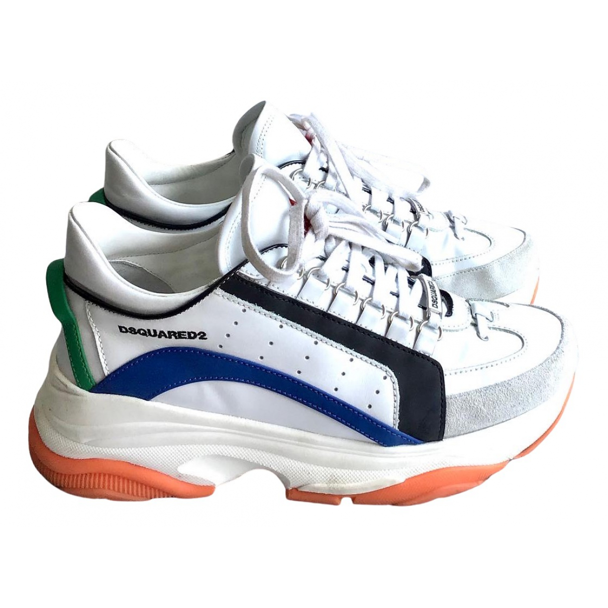 Dsquared2 551 Sneakers in  Weiss Leder