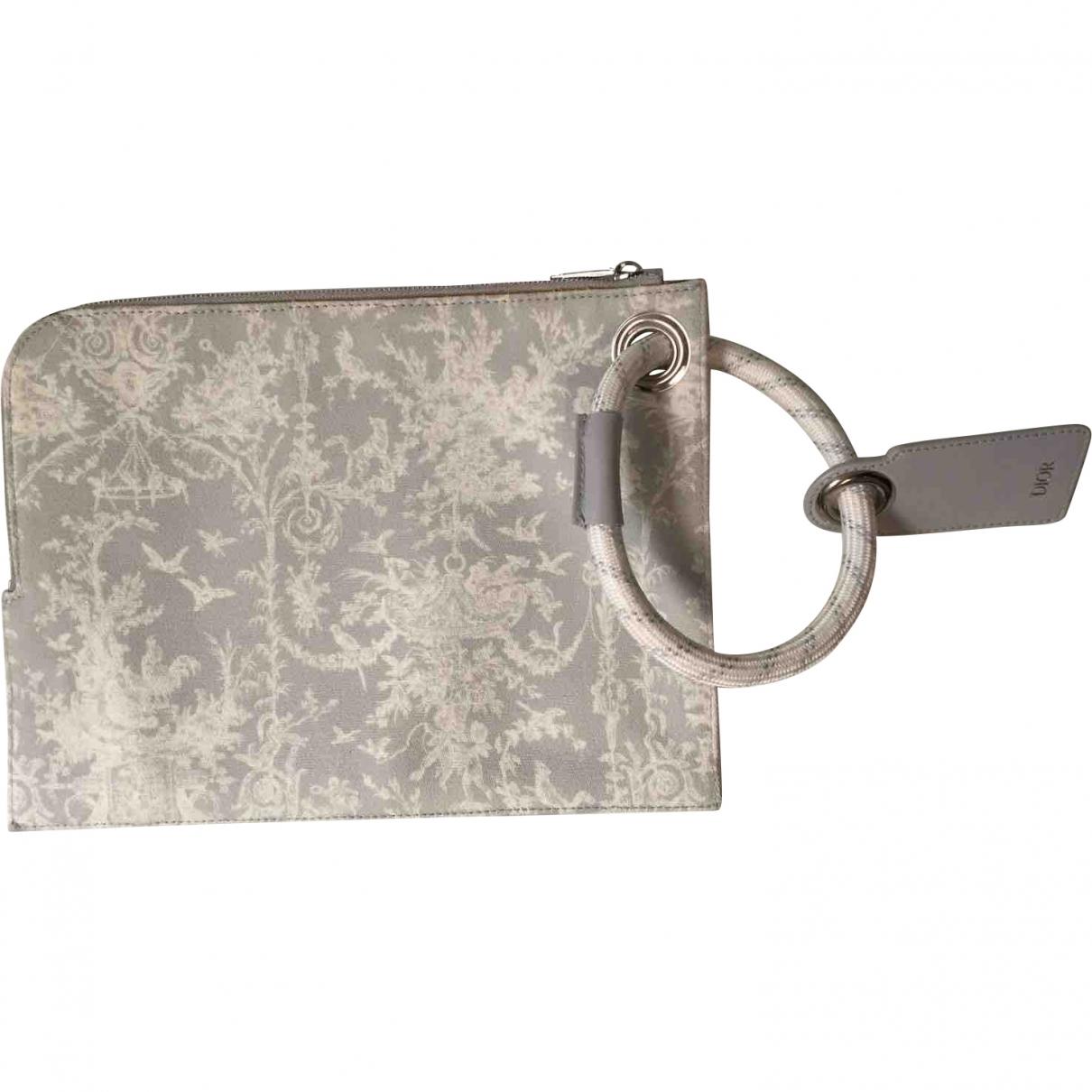 Dior Homme \N Grey Cotton Small bag, wallet & cases for Men \N