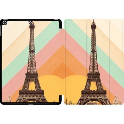 Apple iPad 9.7 (2018) Tablet Smart Case - Eiffel Tower Rainbow von Florent Bodart