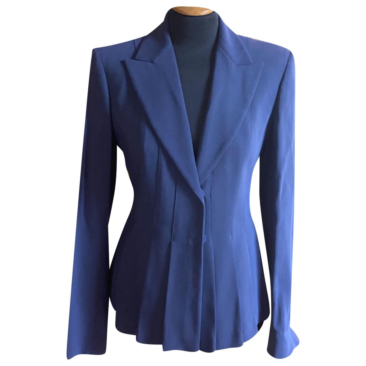 Sport Max \N Blue Cotton jacket for Women 44 IT