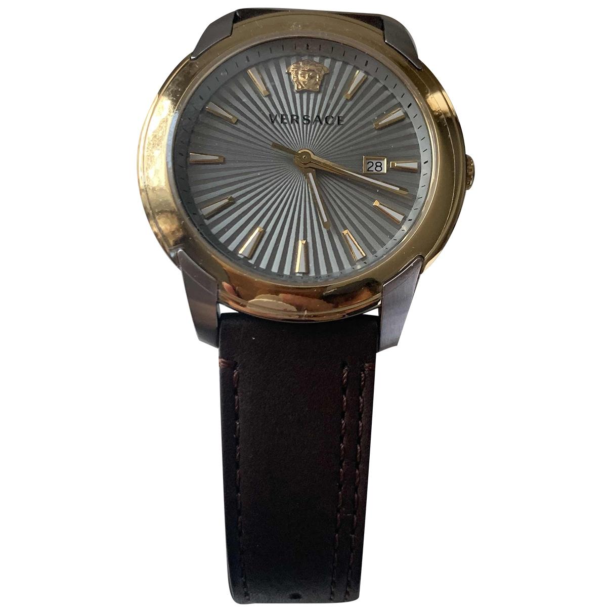 Versace - Montre   pour homme en acier - dore