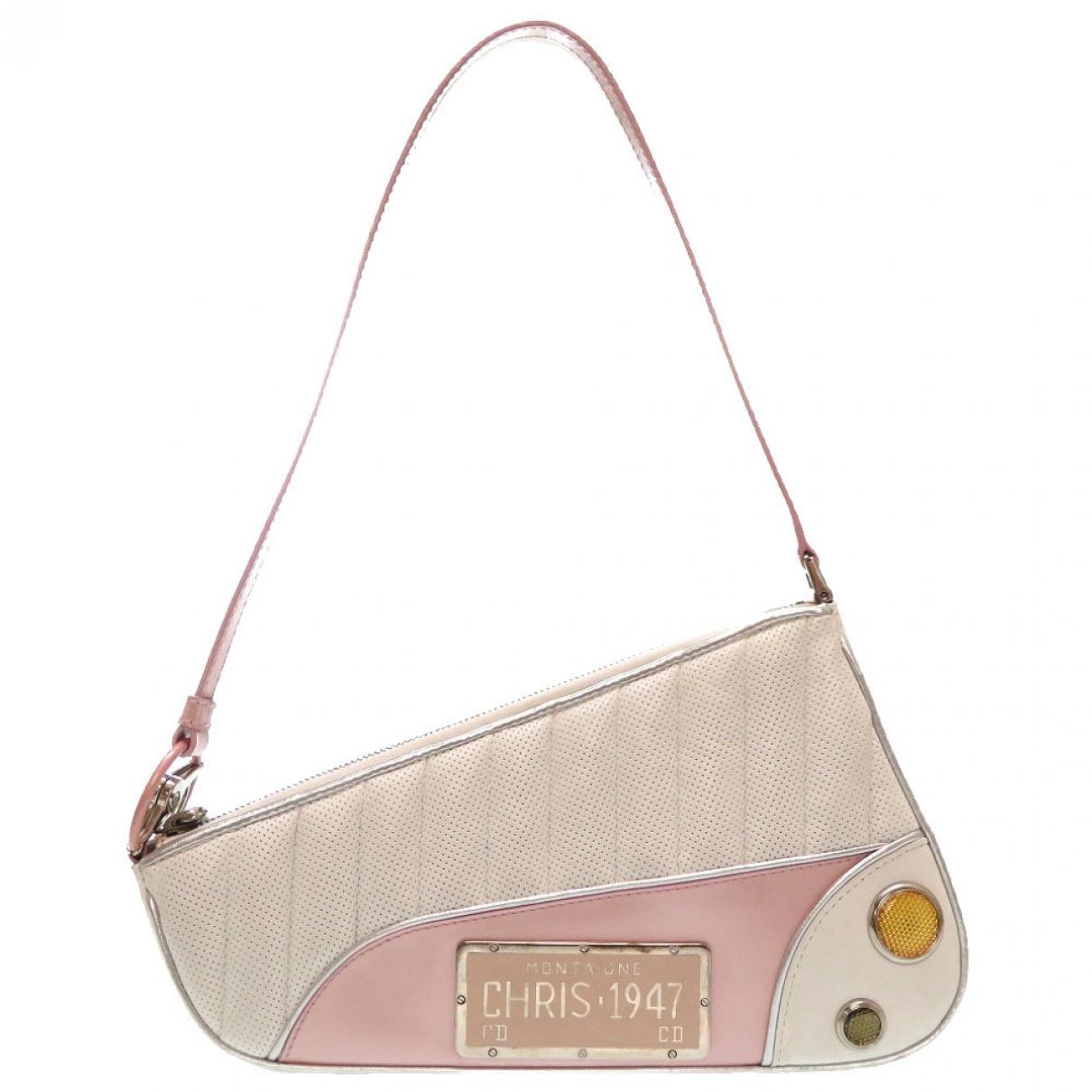 Dior Saddle Handtasche in  Rosa Leinen