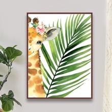 Diamantmalerei mit Giraffe Muster ohne Rahmen