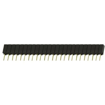 Samtec , SSA 2.54mm Pitch 25 Way 1 Row Straight PCB Socket, Through Hole, Solder Termination