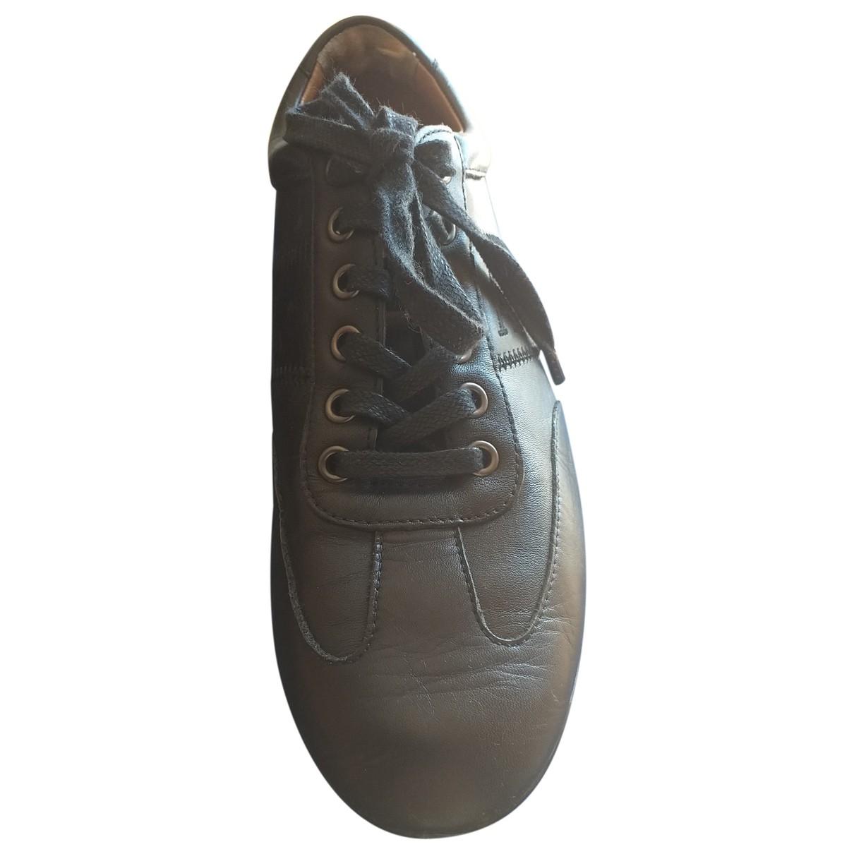 Armani Jean - Baskets   pour homme en cuir - bleu