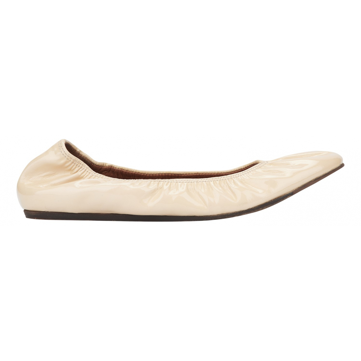 Lanvin N Ecru Patent leather Ballet flats for Women 3 UK