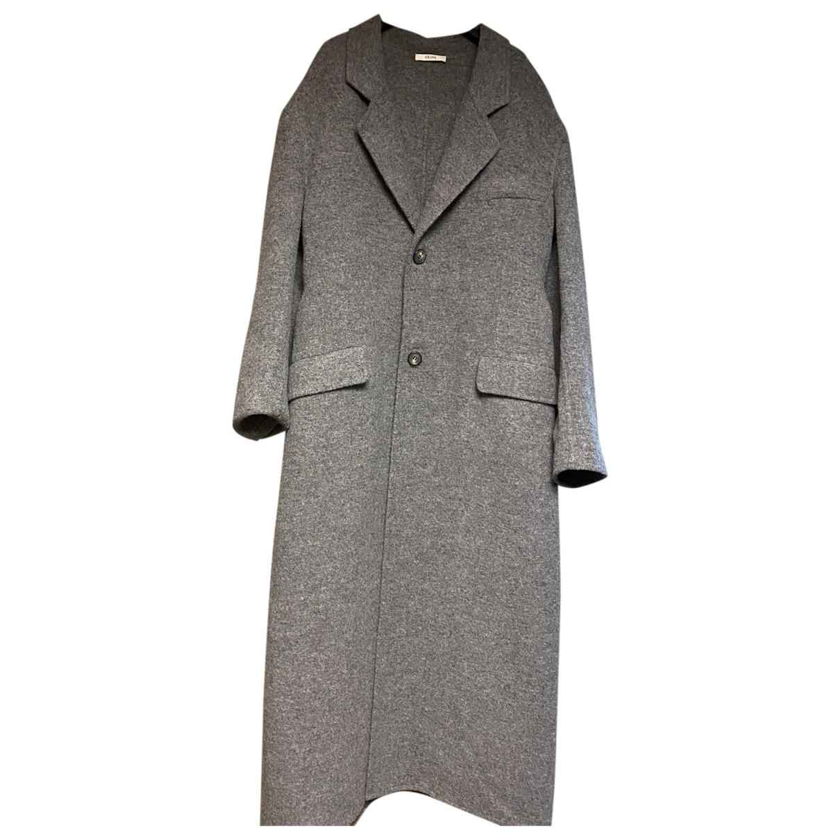 Celine N Grey Wool coat for Women 40 FR