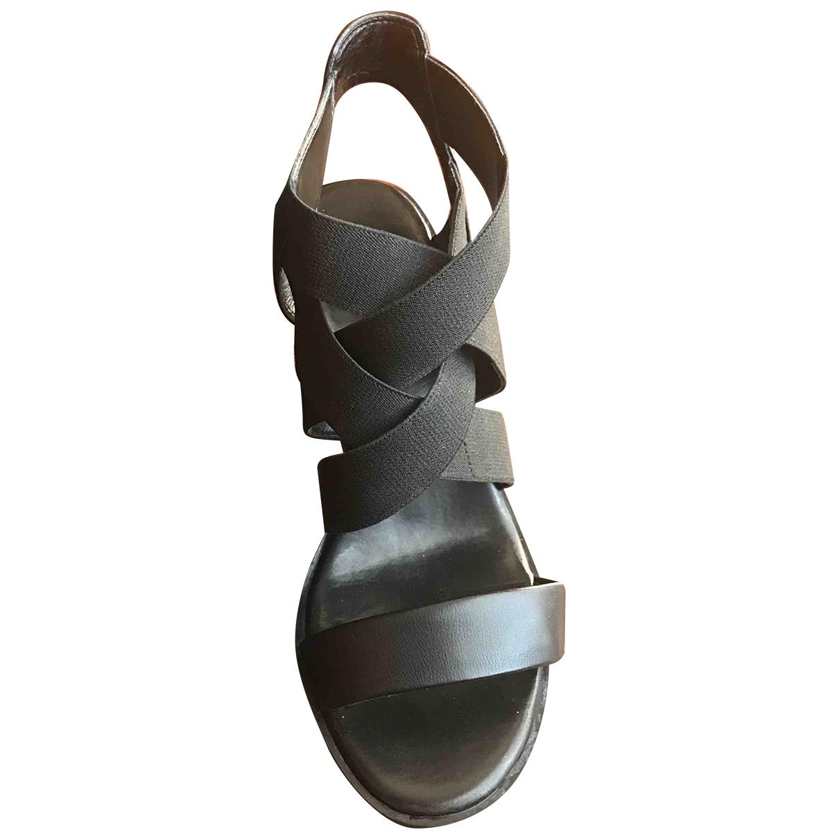 Calvin Klein Collection - Sandales   pour femme en cuir - noir