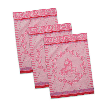 Design Imports 3-pc. Kitchen Towel, One Size , Pink